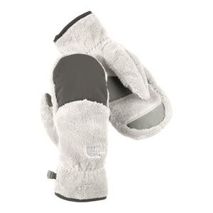 White Denali North Face mittens
